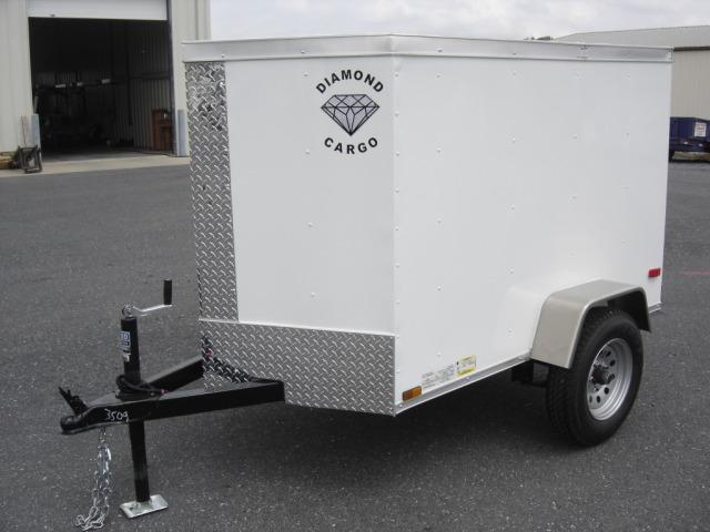 4' wide diamond cargo trailer